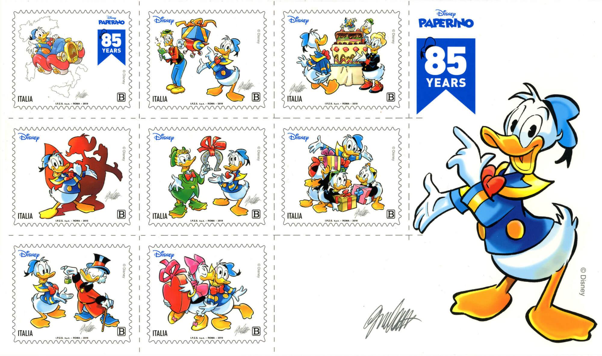 A Lucca Comics il francobollo dedicato a Paperino