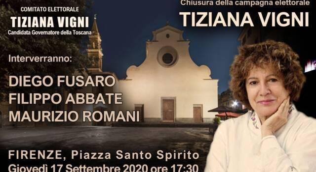Firenze: per Tiziana Vigni domani in piazza con Abbate, Fusaro e Romani