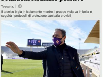 Prandelli positivo, la Fiorentina si allena 'in bolla'