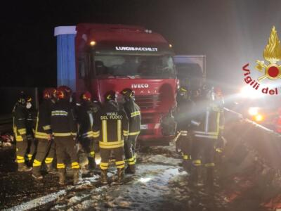 In nottata bloccata la strada E45 per incidente