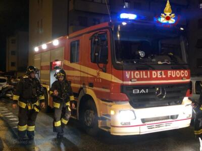 Cascina, incendio in appartamento: due evacuati