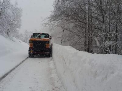Emergenza neve in Garfagnana e sulla montagna pistoiese.