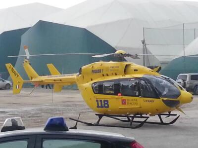 Incidente auto bicicletta: 17enne portato in ospedale in elisoccorso