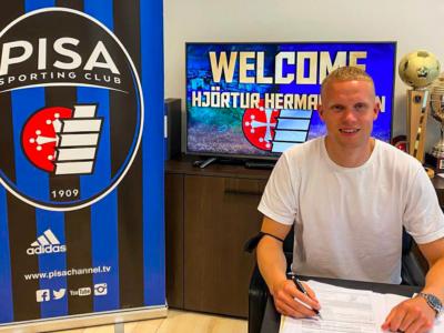 Pisa Sporting Club, Hjörtur hermannsson è nerazzurro