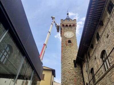 Palazzo Pretorio, al via l'intervento di monitoraggio e messa in sicurezza della torre
