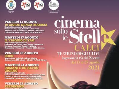 Calci, al via da venerdì 13 agosto il cinema sotto le stelle