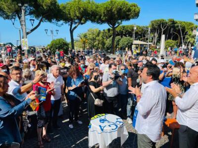Salvini a Carrara: per le elezioni centrodesta unito