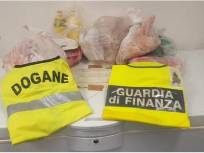 Aeroporto di Pisa, sequestrati 40 kg di prodotti alimentari