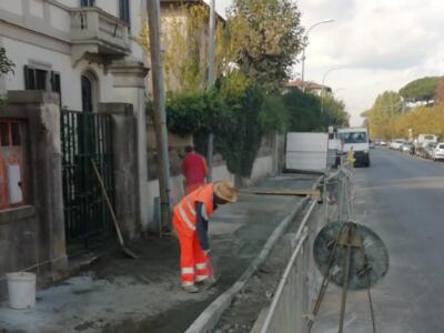 Pisa, proseguono gli interventi per i marciapiedi di Porta a Lucca